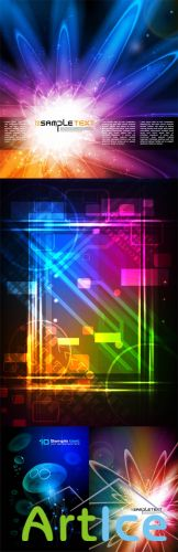 Neon Backgrounds Vector