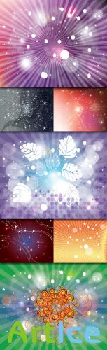 Collections Abstract Colored Vector Backgrounds With Lines, Circles, Stars And Bubbles Vol.2