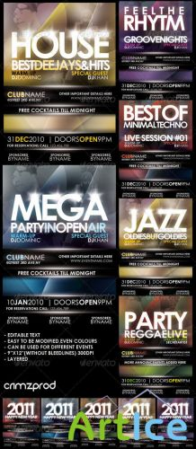 Club Party Poster (2011) - GraphicRiver