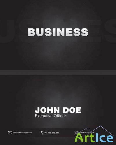 Black business cards - GraphicRiver