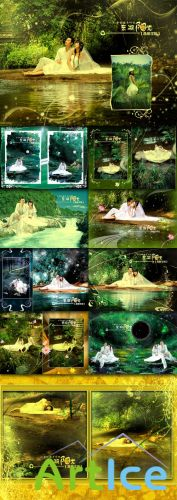 Wedding PhotoTemplate - Sunshine Lake