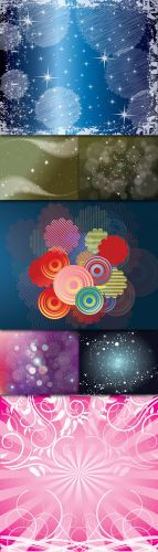 Collections Abstract Colored Vector Backgrounds With Lines, Circles, Stars And Bubbles Vol.3