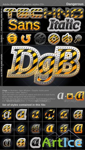 Illustrator Graphic Styles. Dangerous – GraphicRiver