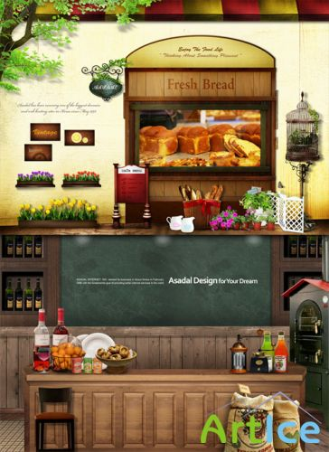 Sources - Tavern with fresh bread