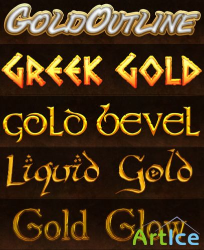 Greek Gold Photoshop Styles