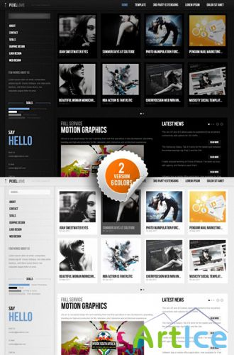 Pixellove - April 2011 GavickPro Template