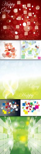 Collections Abstract Colored Vector Backgrounds With Lines, Circles, Stars And Bubbles Vol.4