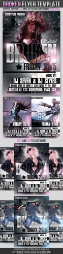 Broken Flyer Template - GraphicRiver