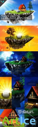 Floating Island - GraphicRiver