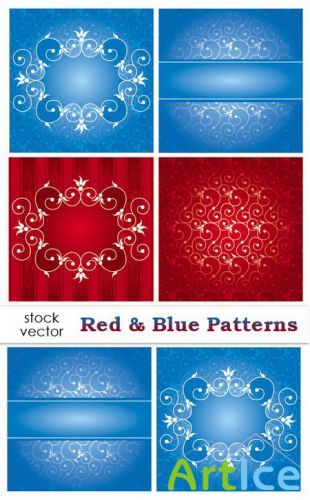 Vectors - Red & Blue Patterns