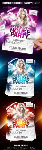 GraphicRiver – Summer House Party Flyer