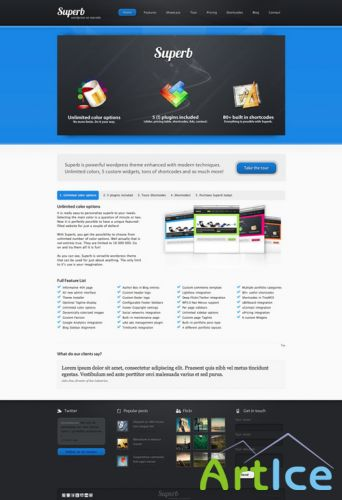 Superb v1.0.1 - Themeforest Powerful WordPress Theme