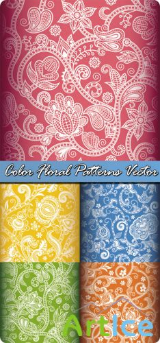 Color Floral Patterns Vector