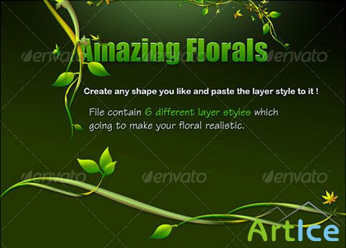 GraphicRiver - Green Floral Layer Styles