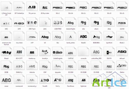 141 Fonts From Popular Films, Brands and Games