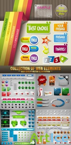 Stock Vector - Collection Of Web Elements | Коллекция web-элементов