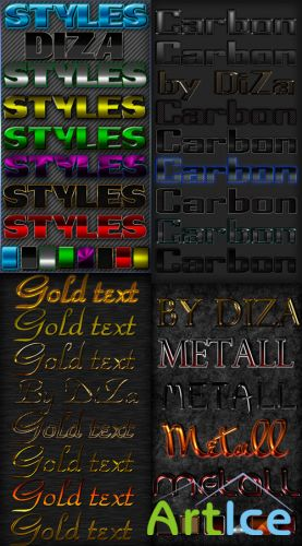 Color text styles for photoshop