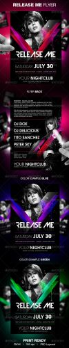 GraphicRiver - Release Me party flyer