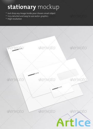 GraphicRiver - Clean Stationary Mockup