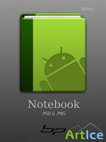 Android notebook psd
