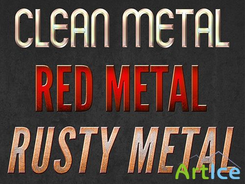 3 Metal Text Styles
