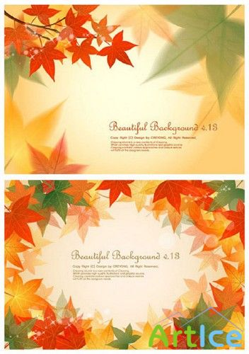 Maple Leaf Background Vector