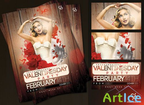 PSD Template - Valentine's Day Flyer