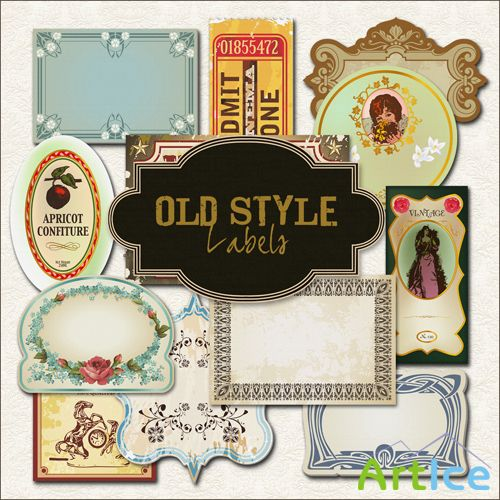 Scrap-kit - Old Style Labels #1