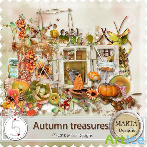 Scrap-set - Autumn Treasures by Marta Design
