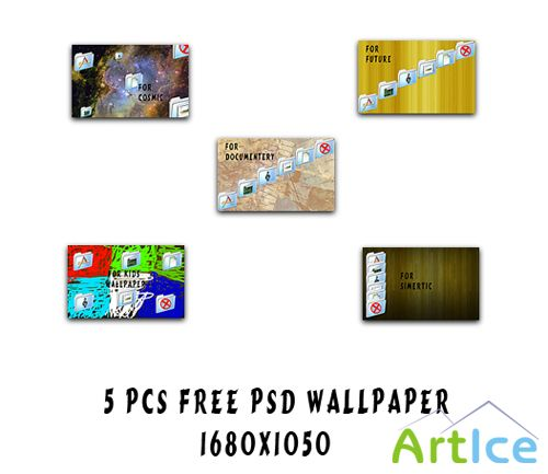 FREE Wallpaper 5 pcs psd