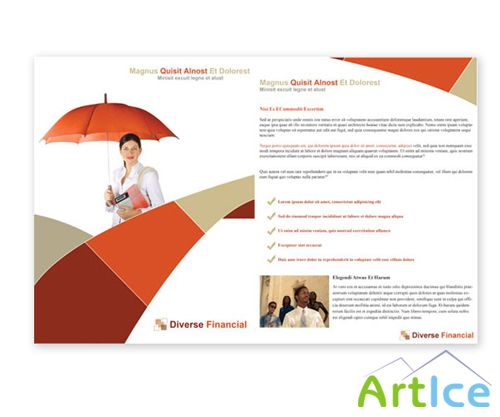 Financial Advisor Brochure Free PSD Print Template