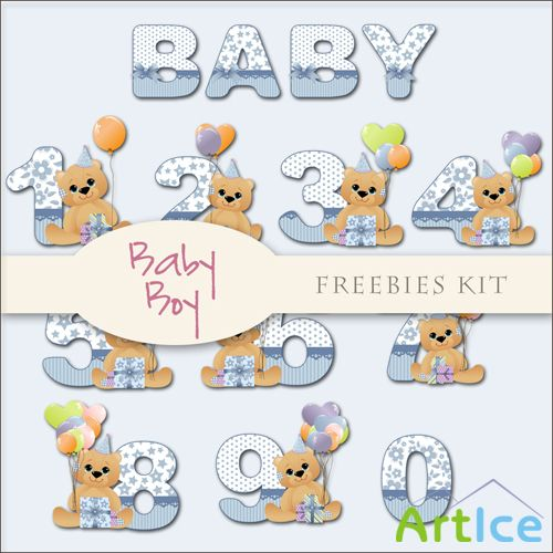 Scrap-kit - Baby Boy Alphabet