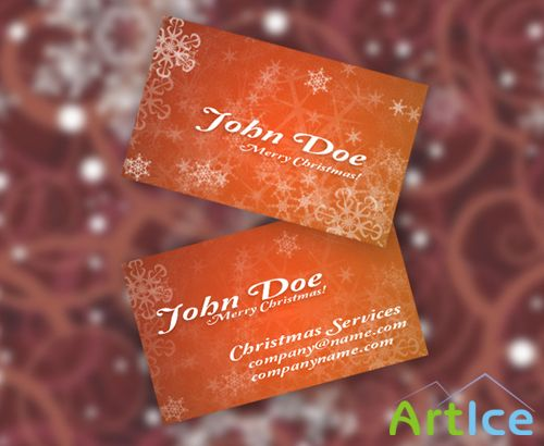 Christmas Business Card