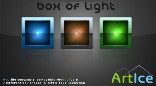 Box of Light PSD file