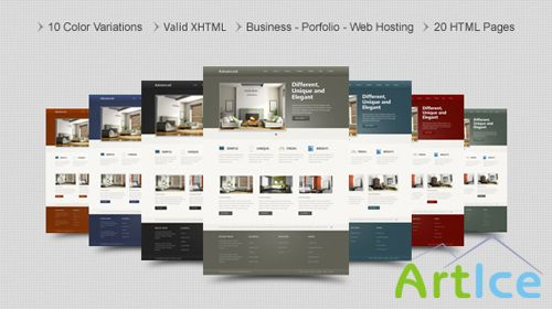 MojoThemes - Advanced – Business and Portfolio HTML Template - Rip