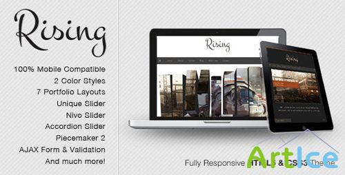 ThemeForest - Rising - Fully Responsive HTML5 & CSS3 Theme - Rip