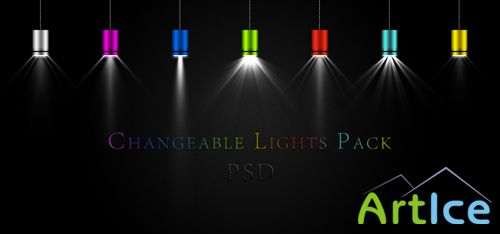 Changeable lights pack psd