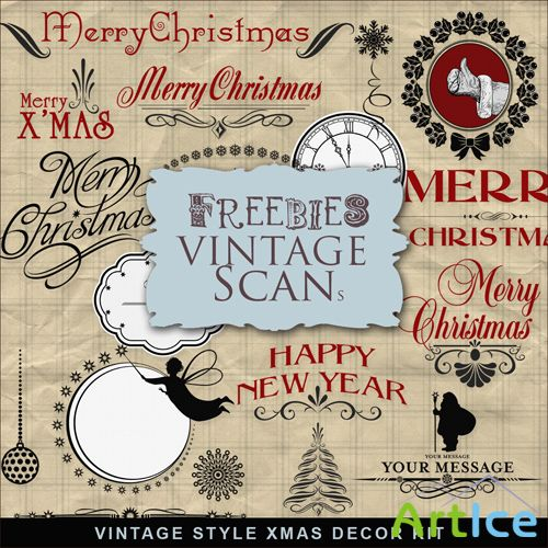 Scrap-kit - Vintage Style Christmas Decor