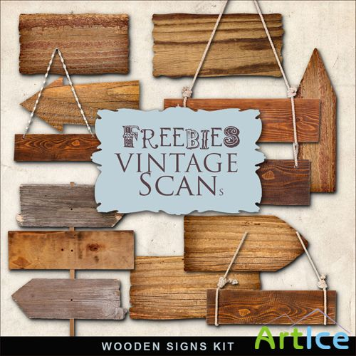 Scrap-kit - Wooden Signs