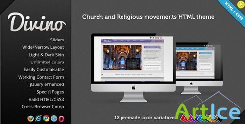 ThemeForest - Divino - Church and Religious Movements HTML/CSS3 - Rip