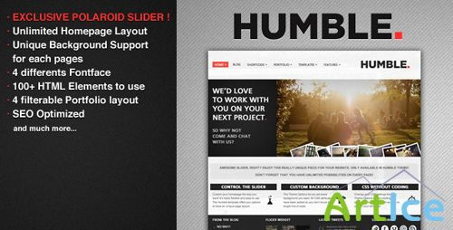 ThemeForest - Humble - Portfolio and Business Theme - Rip