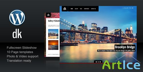 ThemeForest - DK For Photography Creative Portfolio v1.2
