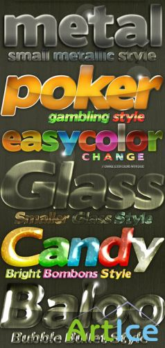 Glass, Bubble and Metallic Styles - GraphicRiver