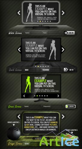 TV Sliders - GraphicRiver