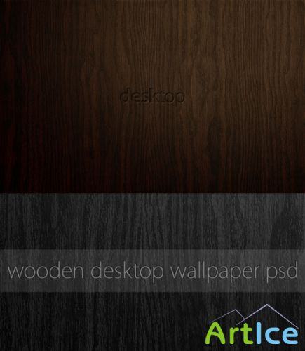 Wooden Desktop Wallpaper PSD