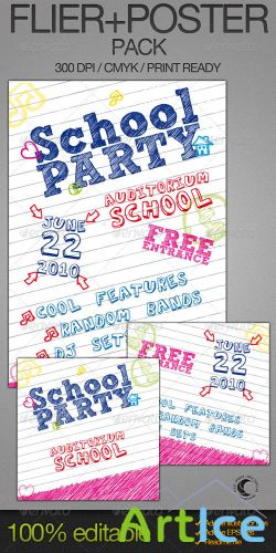 GraphicRiver - School Party Poster + Flyer