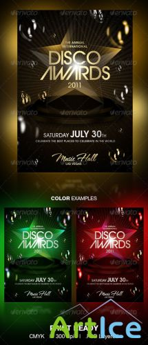 GraphicRiver - Disco Awards Party Flyer