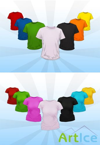 Ladies and Tee Shirt Mockup Templates Pack