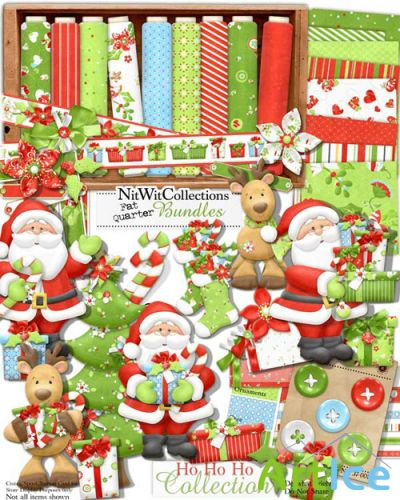 Scrap-set - Ho Ho Ho Collection by Nitwit