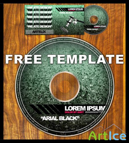 CD-DVD Layered PSD Template